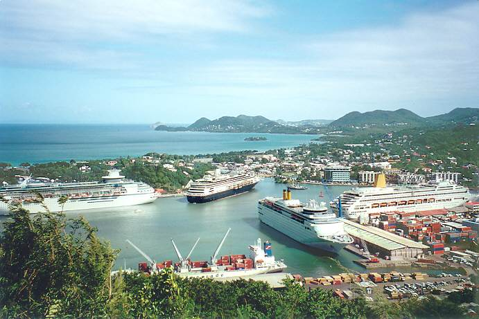 castries st lucia reiseberichte bilder pics reisebericht caribbean islands. Black Bedroom Furniture Sets. Home Design Ideas