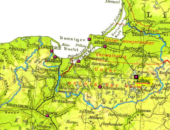 Karte Ostpreußen.Masuren Ostpreußen Atlas Reisen Bilder Reiseberichte