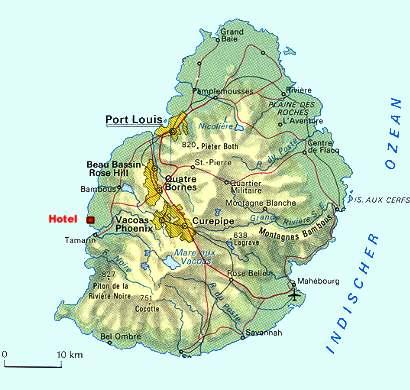 Karte Landkarte Mauritius La Reunion La Reunion Reiseberichte