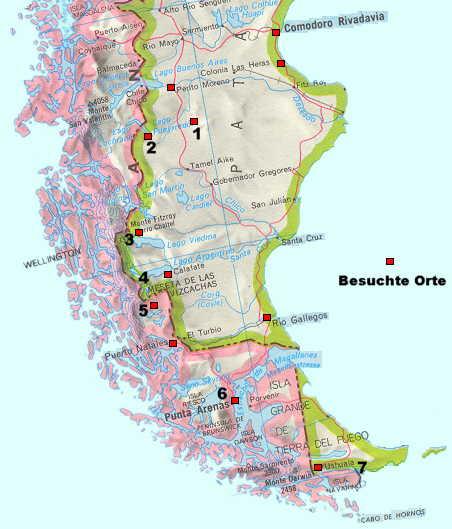 Chile Patagonien Karte.Patagonien Patagonia Feuerland Argentinien Reiseberichte